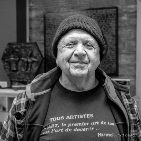 Bourjoi, l'artiste dans son atelier, février 2020